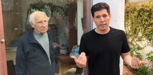 Mel Brooks and Max Brooks (Twitter)