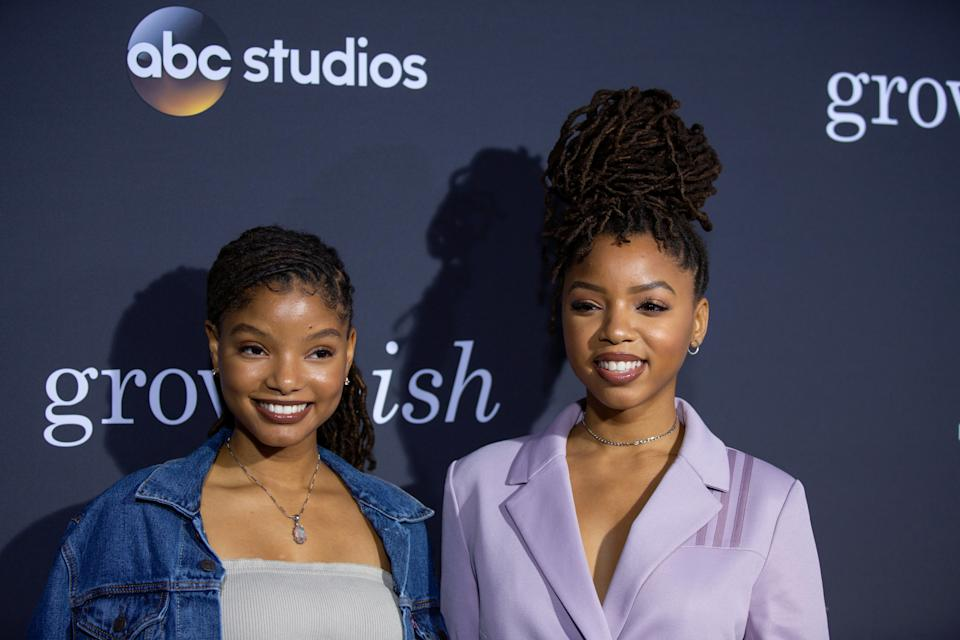 Chloe and Halle Bailey talk about creating separate social media accounts and owning their individuality.(ABC/Image Group LA)