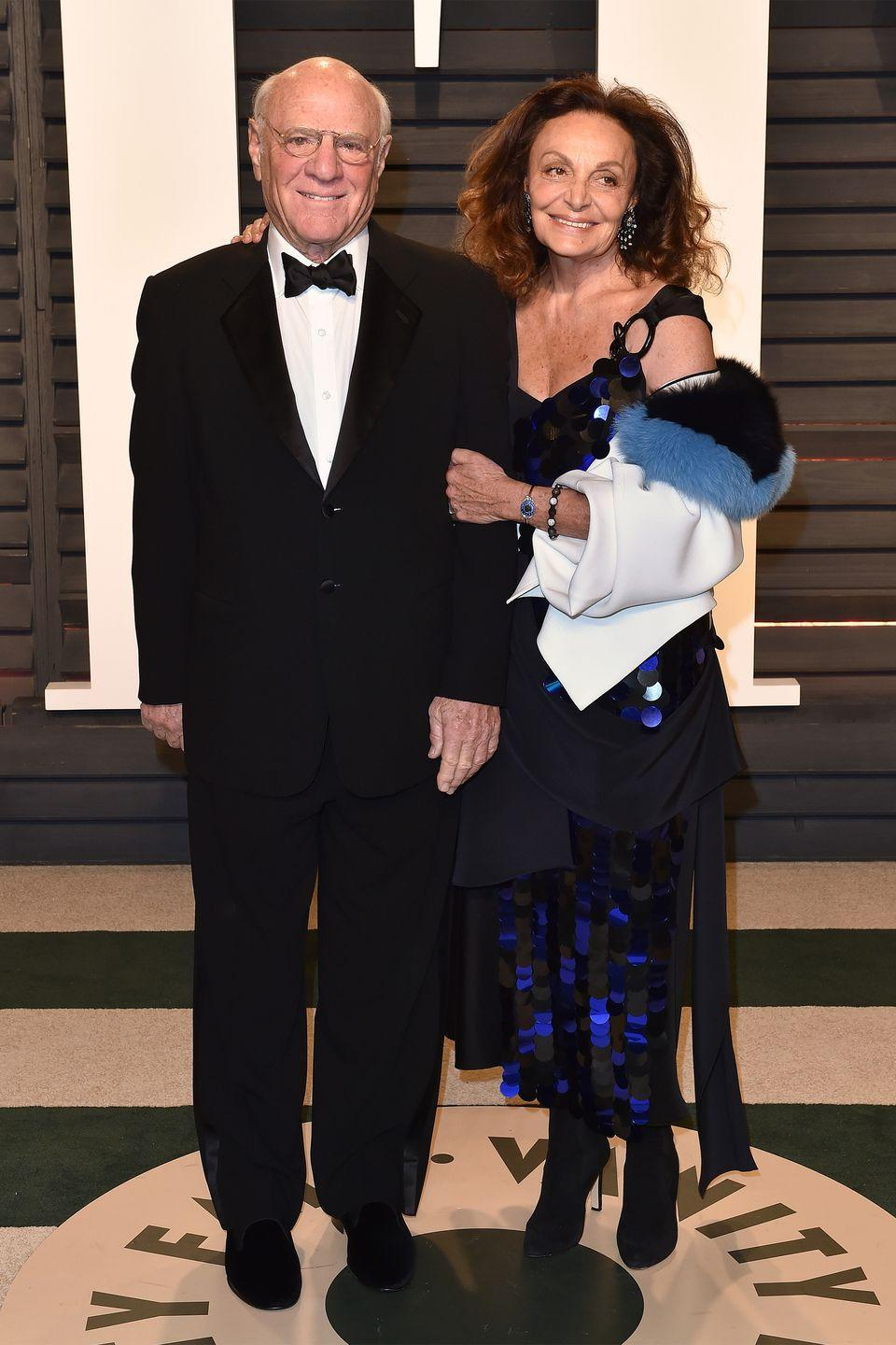 "<p>Legendary fashion designer Diane von Furstenberg and husband Barry Diller, who is the creator of Fox Broadcasting Company, have a been together for nearly four decades.</p><p>""This man has been my lover, my friend, and he's now my husband, she explained to the<em><a href=""https://www.nytimes.com/2013/06/30/magazine/how-diane-von-furstenberg-is-like-a-cowboy.html?ref=style"" rel=""nofollow noopener"" target=""_blank"" data-ylk=""slk:New York Times Magazine"" class=""link rapid-noclick-resp""> New York Times Magazine</a></em> in 2013. ""I have been with him for 35 years. At times we were separated, at times we were only friends, at times we were lovers, at times we're husband and wife, that's our life."" </p>"