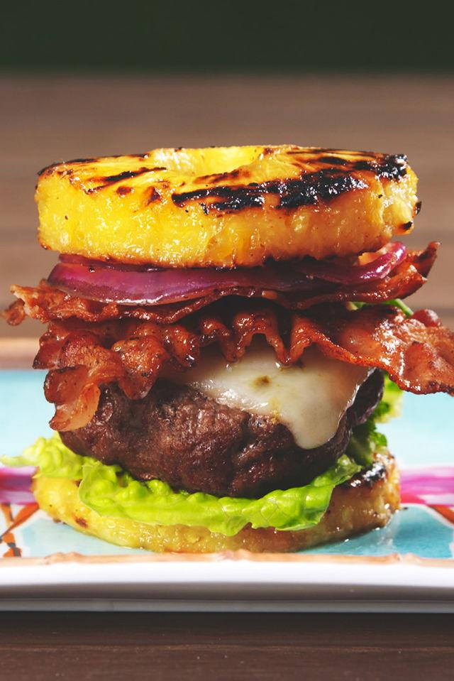 """<p>Burgers get a tropical makeover.</p><p>Get the recipe from <a rel=""""nofollow"""" href=""""http://www.delish.com/cooking/recipe-ideas/recipes/a53184/pineapple-bun-burgers-recipe/"""">Delish</a>.</p>"""