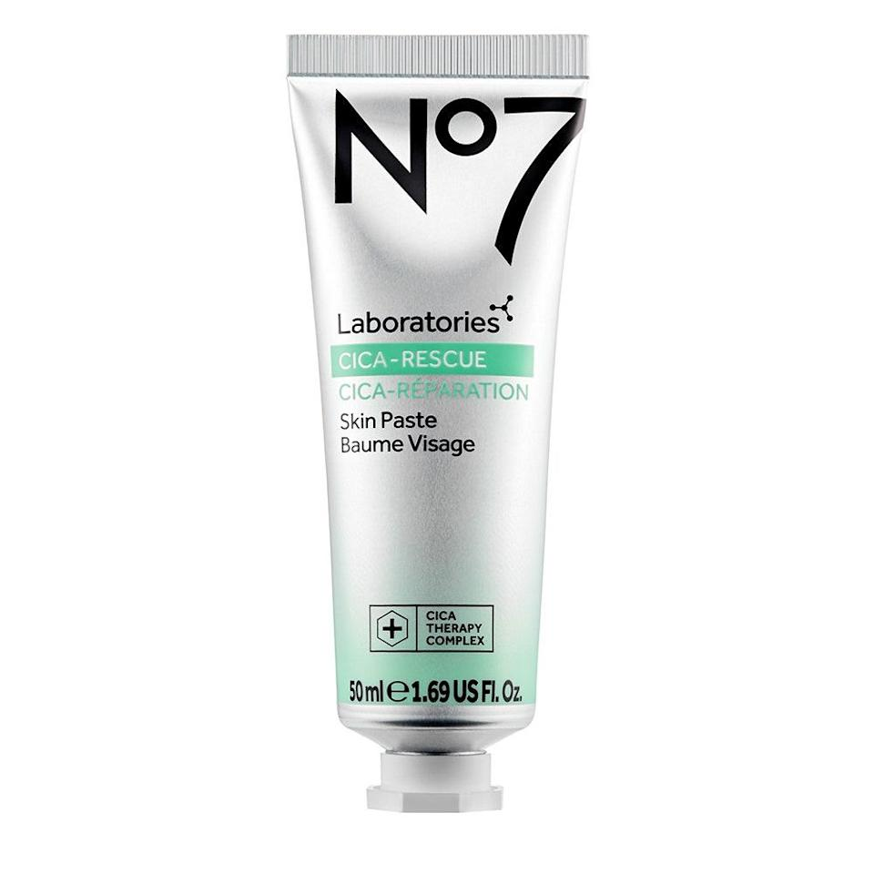 """<p>As the name suggests, No. 7 Laboratories' Cica-Rescue Skin Paste Mask deploys <a href=""""https://www.allure.com/story/what-is-cica-ingredient-korean-beauty-skin-care?mbid=synd_yahoo_rss"""" rel=""""nofollow noopener"""" target=""""_blank"""" data-ylk=""""slk:centella asiatica"""" class=""""link rapid-noclick-resp""""><em>centella asiatica</em></a> (also known as cica or tiger grass) to <a href=""""https://www.allure.com/gallery/skin-care-products-rosacea-prone-skin-dermatologists?mbid=synd_yahoo_rss"""" rel=""""nofollow noopener"""" target=""""_blank"""" data-ylk=""""slk:target redness"""" class=""""link rapid-noclick-resp"""">target redness</a> like no product's business. <a href=""""https://www.allure.com/story/skin-care-terms-glossary-definitions?mbid=synd_yahoo_rss"""" rel=""""nofollow noopener"""" target=""""_blank"""" data-ylk=""""slk:Bisabolol"""" class=""""link rapid-noclick-resp"""">Bisabolol</a>, a chamomile extract, also acts as a moisturizing, anti-inflammatory, and anti-microbial ingredient. Over time, you'll witness calmer, more resilient skin, and you'll have this 2020 <em>Allure</em> <a href=""""https://www.allure.com/story/best-of-beauty-awards-2020?mbid=synd_yahoo_rss"""" rel=""""nofollow noopener"""" target=""""_blank"""" data-ylk=""""slk:Best of Beauty winner"""" class=""""link rapid-noclick-resp"""">Best of Beauty winner</a> to thank.</p> <p><strong>$11</strong> (<a href=""""https://shop-links.co/1726100114977310997"""" rel=""""nofollow noopener"""" target=""""_blank"""" data-ylk=""""slk:Shop Now"""" class=""""link rapid-noclick-resp"""">Shop Now</a>)</p>"""