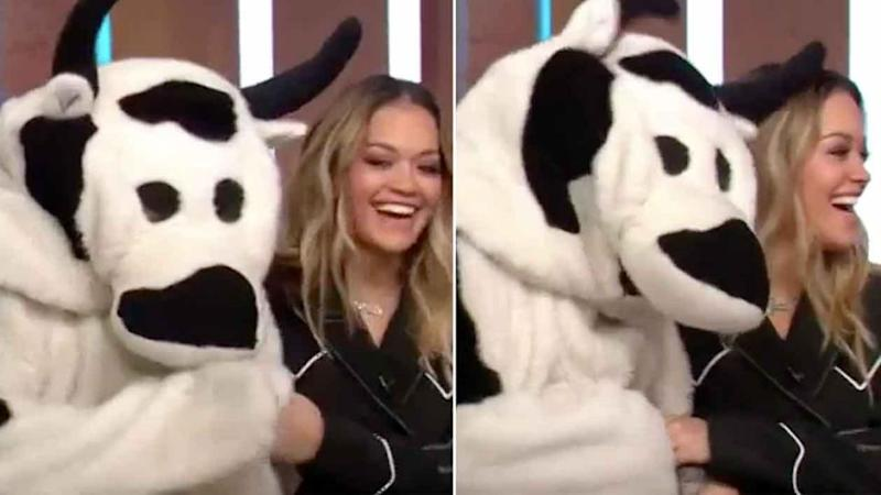 Rita Ora and the Cash Cow looked like they were best pals on Sunrise. Source: Seven