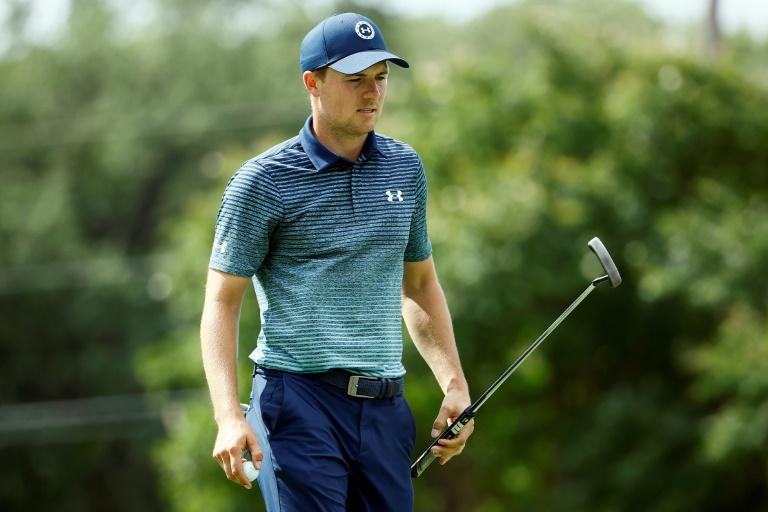 American Jordan Spieth shares the first-round lead in the US PGA Tour Charles Schwab Challenge after a seven-under par 63