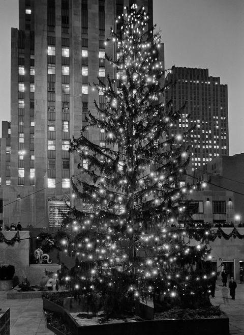 "<p>Rockefeller Center has been celebrating the holidays since before the building even opened in 1933 as workers set up a little tree in the middle of the muddy construction site while Rock Center was being built.  In 1934, the second tree to grace the plaza had speakers inside of it to make it seem like it was singing. </p><p><em><a rel=""nofollow"" href=""https://ec.yimg.com/ec?url=http%3a%2f%2fwww.goodhousekeeping.com%2fhealth%2fnews%2fa46938%2fchristmas-decorations-make-you-happy%2f%26quot%3b%26gt%3bPutting&t=1524788201&sig=07_txhVgZgUdIDN4r9QAOA--~D Your Holiday Decorations Up Early Could Make You Happier</a><a rel=""nofollow"" href=""http://www.goodhousekeeping.com/holidays/christmas-ideas/g2747/christmas-tree-decorations-ideas/""> »</a></em><span><em></em></span></p>"