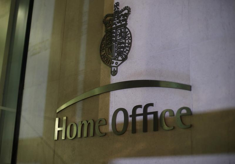 """EMBARGOED TO 0001 WEDNESDAY JULY 17 File photo dated 29/04/18 of the sign outside the Home Office in Westminster, London, as it has been told to come up with a """"plan B"""" in case a new emergency services communication system that has been plagued by delays is no longer value for money."""