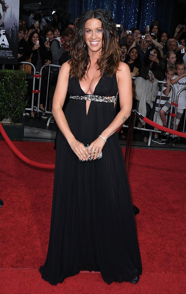 """<a href=""""http://movies.yahoo.com/movie/contributor/1800274561"""">Alanis Morissette</a> at the Los Angeles premiere of <a href=""""http://movies.yahoo.com/movie/1810041991/info"""">Prince of Persia: The Sands of Time</a> - 05/17/2010"""