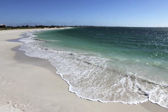 Mandatory Credit: Photo by Stuart Forster/REX (1735646t) The Indian Ocean rolls onto the white sand of Jurien Bay, Western Australia, Australia. Australia - 2011