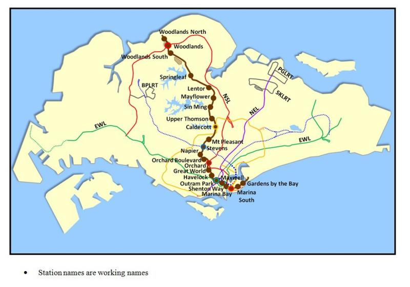 Thomson Line consists of 22 stations, including six interchanges. (Photo from LTA's Facebook page)