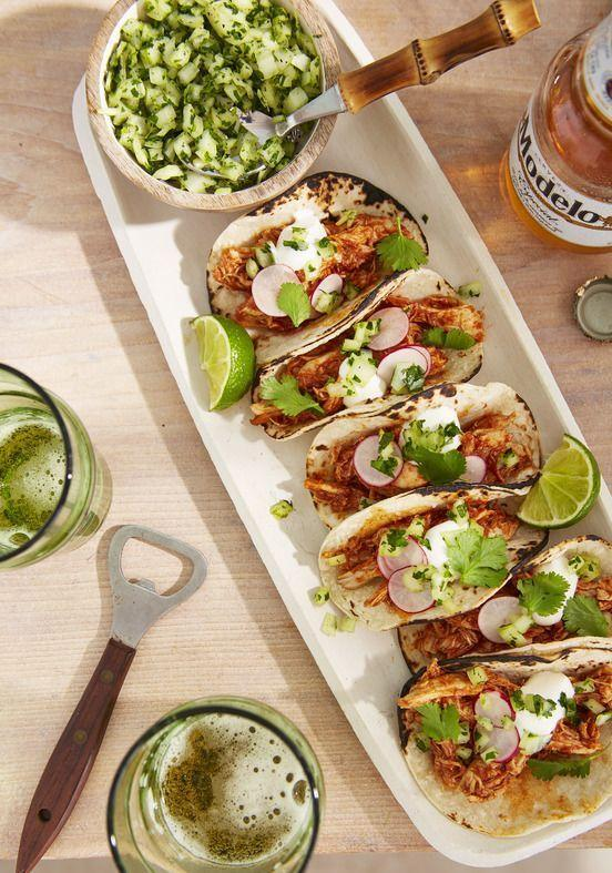 """<p>Turn turkey leftovers into zesty tacos in 20 minutes.</p><p><em><a href=""""https://www.countryliving.com/food-drinks/a35914310/mini-chicken-tacos-recipe/"""" rel=""""nofollow noopener"""" target=""""_blank"""" data-ylk=""""slk:Get the recipe from Country Living »"""" class=""""link rapid-noclick-resp"""">Get the recipe from Country Living »</a></em> </p>"""