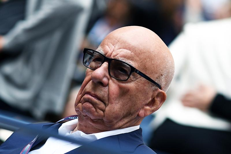 Rupert Murdoch arrives to watch the 2017 US Open Men's Singles final match between Spain's Rafael Nadal and South Africa's Kevin Anderson, at the USTA Billie Jean King National Tennis Center in New York on September 10, 2017. / AFP PHOTO / Jewel SAMAD (Photo credit should read JEWEL SAMAD/AFP via Getty Images)