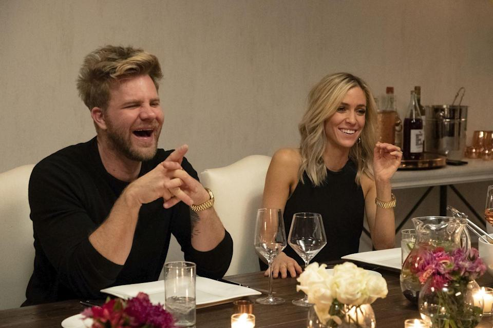 """<p>Earlier this year, Kristin Cavallari and her husband Jay Cutler made headlines for splitting less than a month after leaving the Bahamas, where they were stuck quarantining. Kristin's best friend and hair stylist Justin Anderson was also along for the trip, with the pair posting together <a href=""""https://www.instagram.com/p/B9wvg2OnSCa/"""" rel=""""nofollow noopener"""" target=""""_blank"""" data-ylk=""""slk:on Instagram"""" class=""""link rapid-noclick-resp"""">on Instagram</a>. Recently, <a href=""""https://www.instagram.com/p/CCGqy11DHB3/"""" rel=""""nofollow noopener"""" target=""""_blank"""" data-ylk=""""slk:Justin referenced their close bond"""" class=""""link rapid-noclick-resp"""">Justin referenced their close bond</a> on the 'gram, writing, """"the world is a nutty place right now 🌎 but spending time with your best friends makes it a little more tolerable ♥️ morning sweat sweat with my fav lovie <a href=""""https://www.instagram.com/kristincavallari/"""" rel=""""nofollow noopener"""" target=""""_blank"""" data-ylk=""""slk:@kristincavallari"""" class=""""link rapid-noclick-resp"""">@kristincavallari</a> 💦.""""<br></p>"""