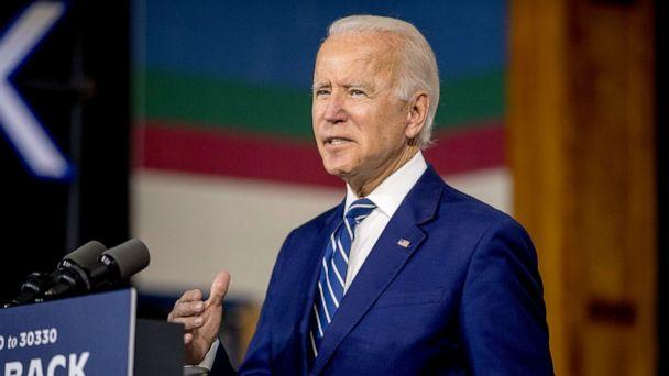PHOTO: Democratic presidential candidate former Vice President Joe Biden speaks at a campaign event at the Colonial Early Education Program at the Colwyck Training Center, Tuesday, July 21, 2020 in New Castle, Del. (Andrew Harnik/AP Photo)