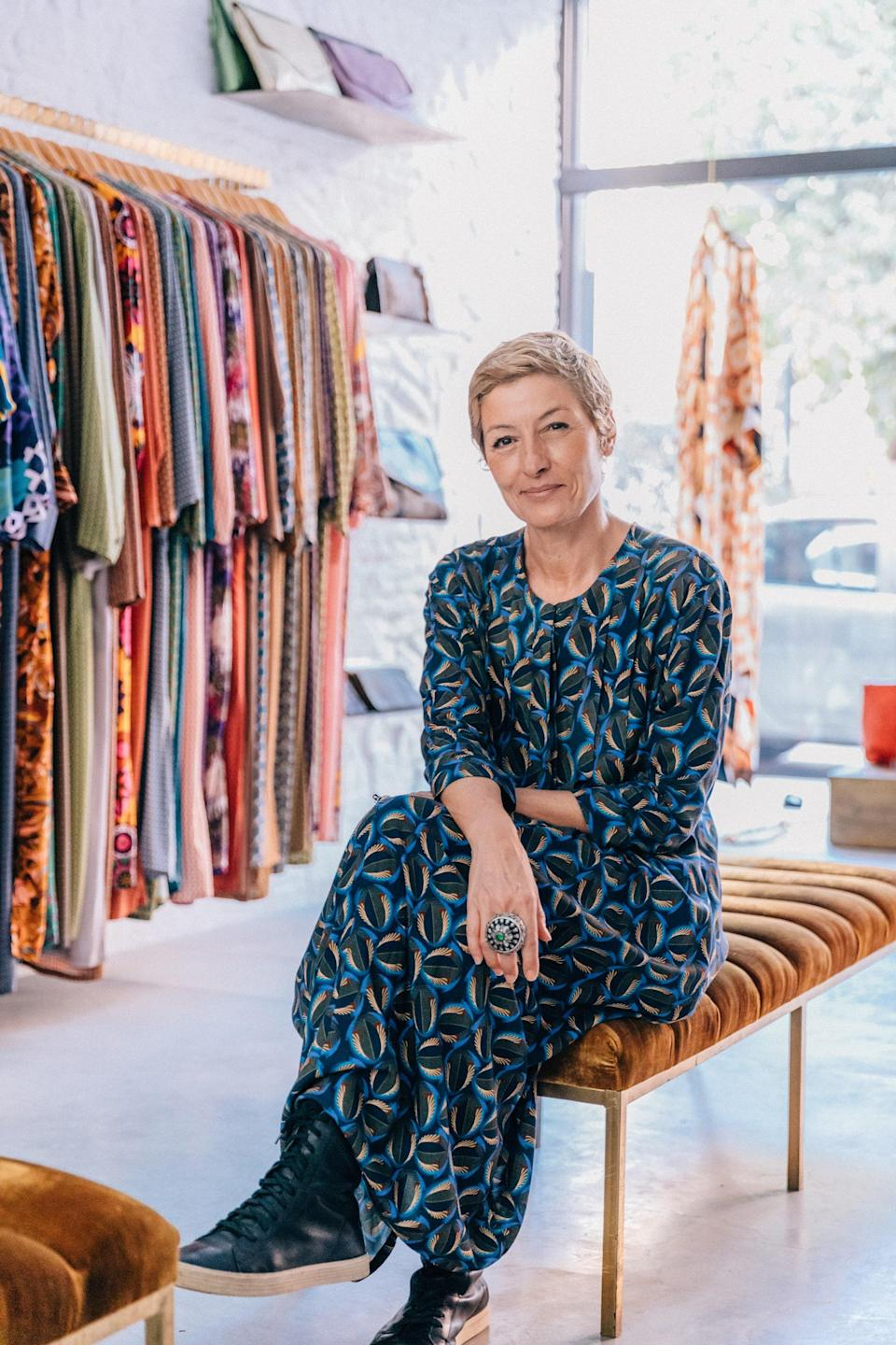 Norya Nemiche at her store, which opened in Marrakech in 2013