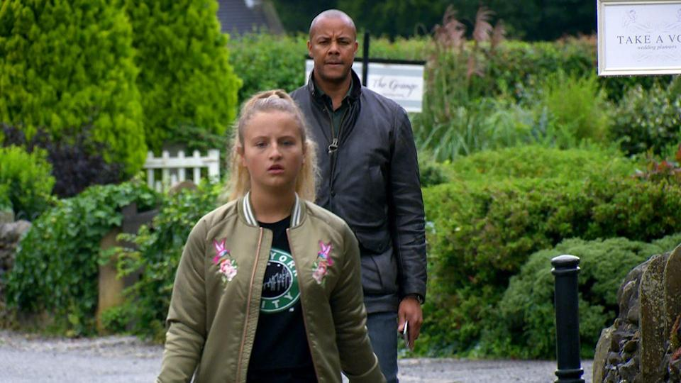 <p>Amelia fears she has been busted.</p>