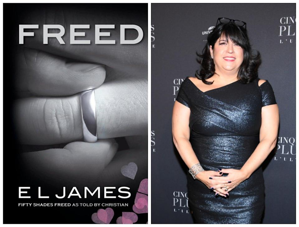 <p>The cover of Freed and author EL James</p> (Penguin / Getty)