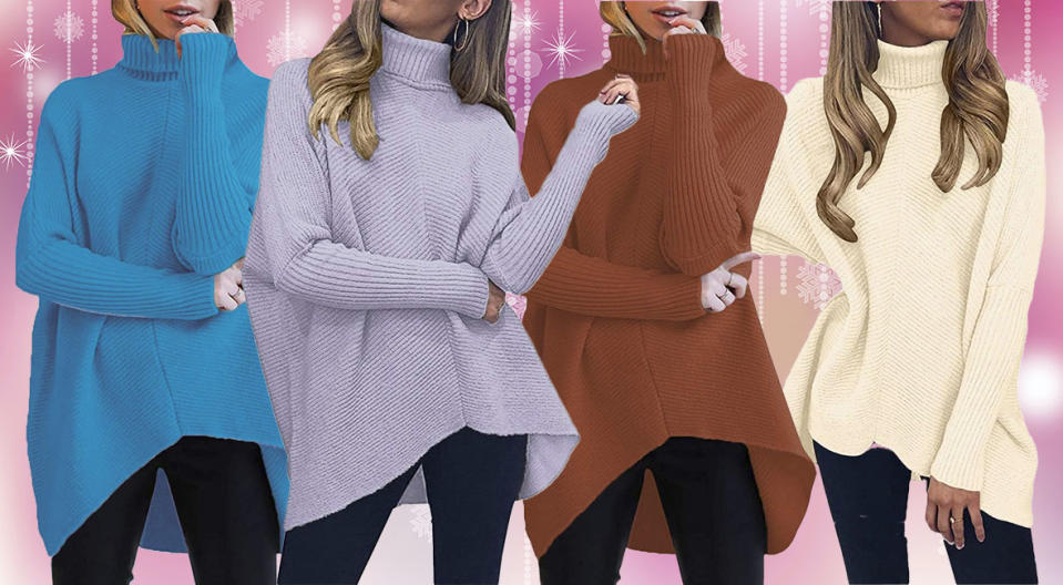 Ready for winter? Not without this chic and snuggle-worthy sweater! (Photo: Amazon)