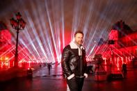 French DJ David Guetta throws a charity concert in Paris to mark New Year's Eve