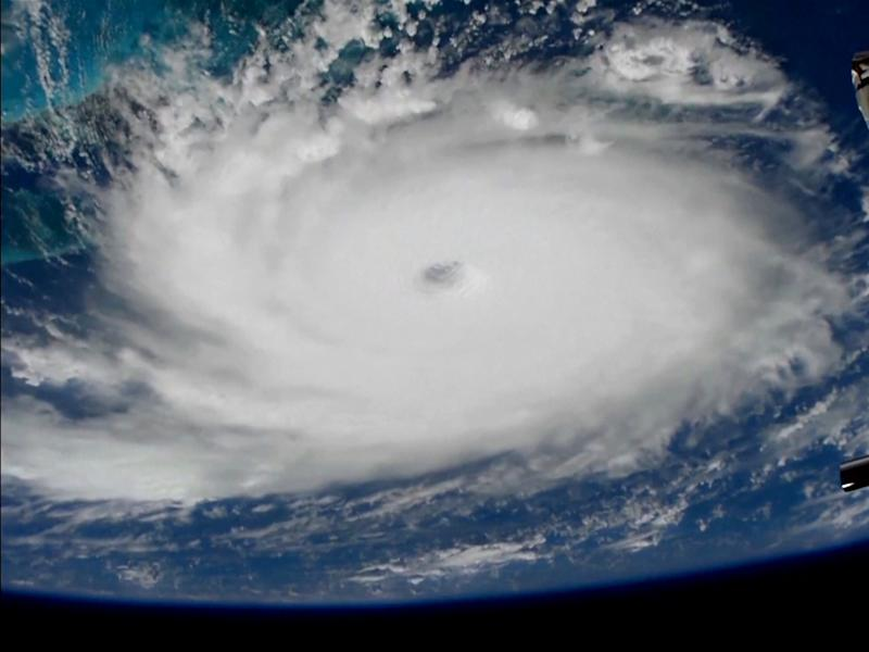 Hurricane Dorian on Sunday, viewed from the International Space Station (Picture: Reuters)