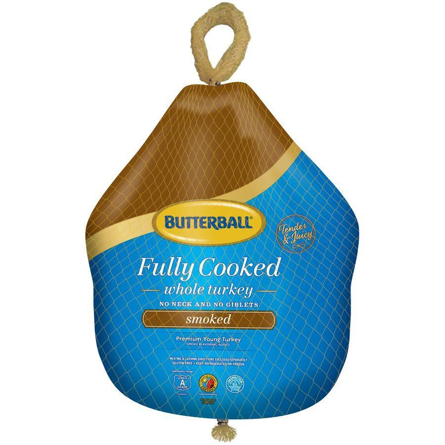 """<p><strong>Butterball</strong></p><p>walmart.com</p><p><strong>$24.50</strong></p><p><a href=""""https://go.redirectingat.com?id=74968X1596630&url=https%3A%2F%2Fwww.walmart.com%2Fip%2FButterball-Frozen-Fully-Cooked-Smoked-Premium-Young-Turkey-10-0-12-5-lb%2F848077611&sref=https%3A%2F%2Fwww.countryliving.com%2Ffood-drinks%2Fg34631626%2Fprecooked-turkeys-for-thanksgiving%2F"""" rel=""""nofollow noopener"""" target=""""_blank"""" data-ylk=""""slk:Shop Now"""" class=""""link rapid-noclick-resp"""">Shop Now</a></p><p>Walmart offers an easy and inexpensive option: The Butterball fully-cooked smoked turkey (10.0-12.5 lb.). Pick this </p>"""