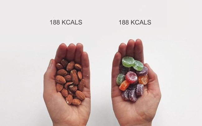 """Not all calories are created equal — but that doesn't mean they're bad. <em>(Photo via Instagam/<a href=""""https://www.instagram.com/thefashionfitnessfoodie/"""" rel=""""nofollow noopener"""" target=""""_blank"""" data-ylk=""""slk:thefashionfitnessfoodie"""" class=""""link rapid-noclick-resp"""">thefashionfitnessfoodie</a>)</em>"""