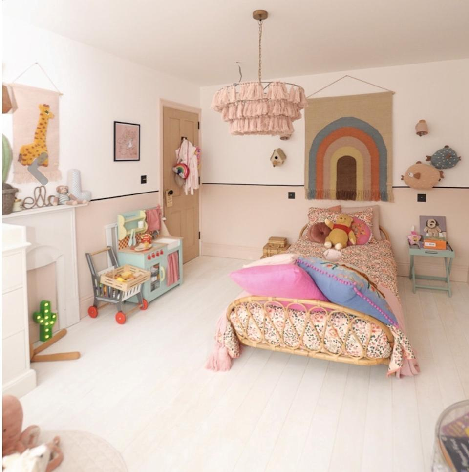 The playroom which Katy created for her young daughter Lila. (SWNS)