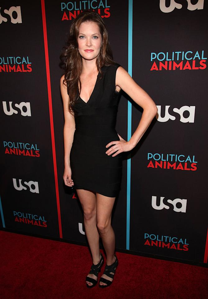 """Meghann Fahy attends the """"Political Animals"""" premiere at The Morgan Library & Museum on June 25, 2012 in New York City."""
