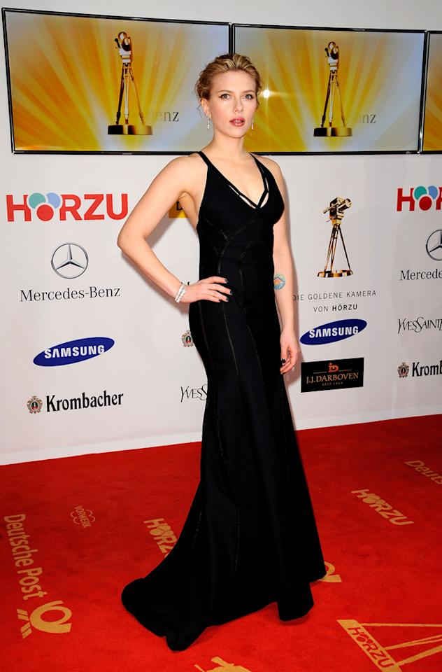 BERLIN, GERMANY - FEBRUARY 04:  Actress Scarlett Johansson attends the 47th Golden Camera Awards at the Axel Springer Haus on February 4, 2012 in Berlin, Germany.  (Photo by Luca Teuchmann/WireImage)