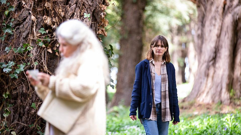 """Kay (Emily Mortimer, right) wonders about her mother (Robyn Nevin) after she disappears and then shows up again in the horror film """"Relic."""""""