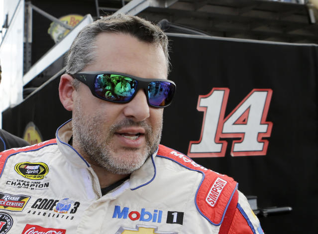 "<a class=""link rapid-noclick-resp"" href=""/nascar/sprint/drivers/87/"" data-ylk=""slk:Tony Stewart"">Tony Stewart</a> retired from Cup Series competition after the 2016 season. (AP Photo/Alan Diaz, File)"