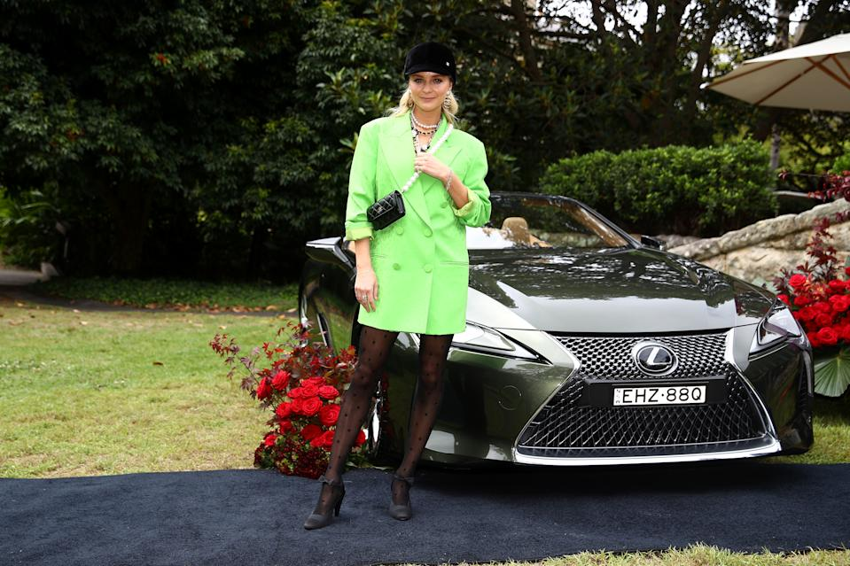 SYDNEY, AUSTRALIA - OCTOBER 27: Nadia Fairfax attends the 2020 Melbourne Cup Carnival Sydney Launch on October 27, 2020 in Sydney, Australia. (Photo by Don Arnold/WireImage)