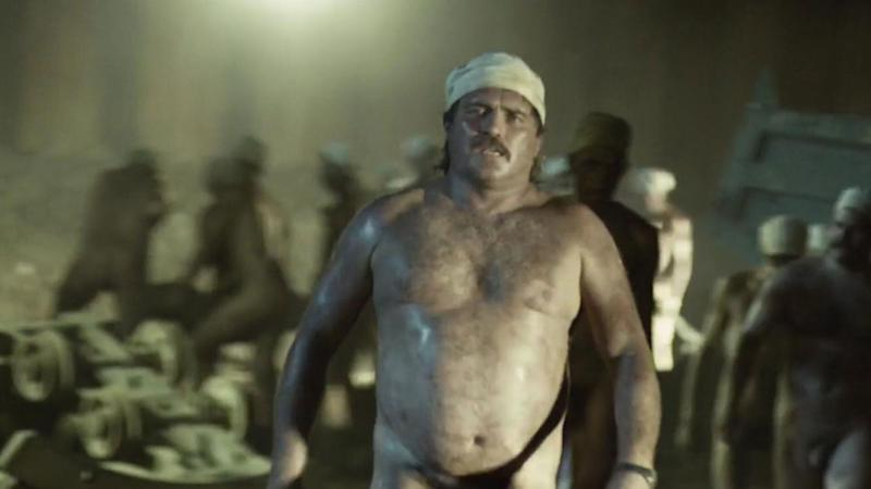 Episode 3 of Chernobyl saw coalminers stripping out to work in extreme temperatures. (Sky)