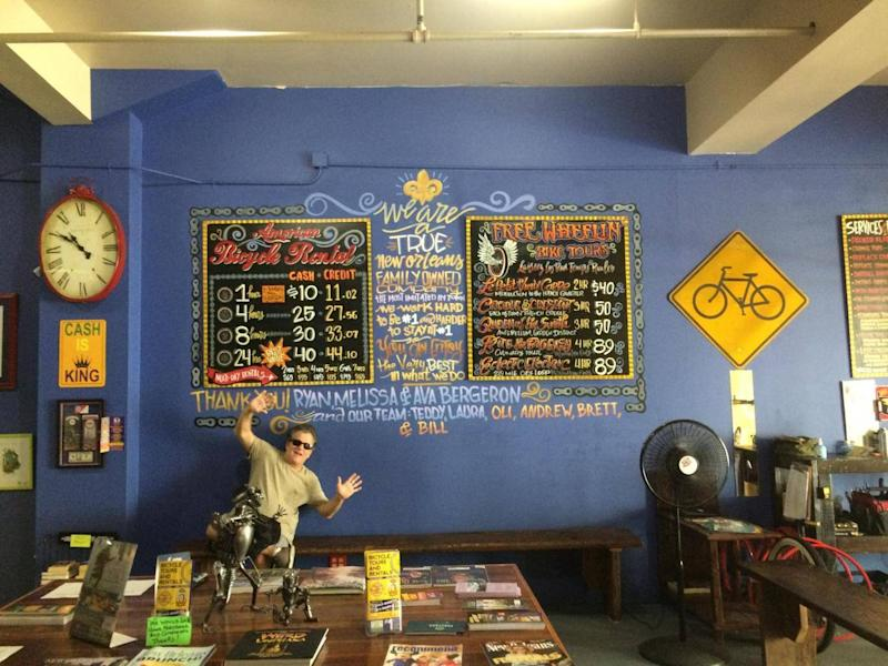 Bike hire shops are thriving in New Orleans as locals increasingly take up cycling (Tamara Hinson)