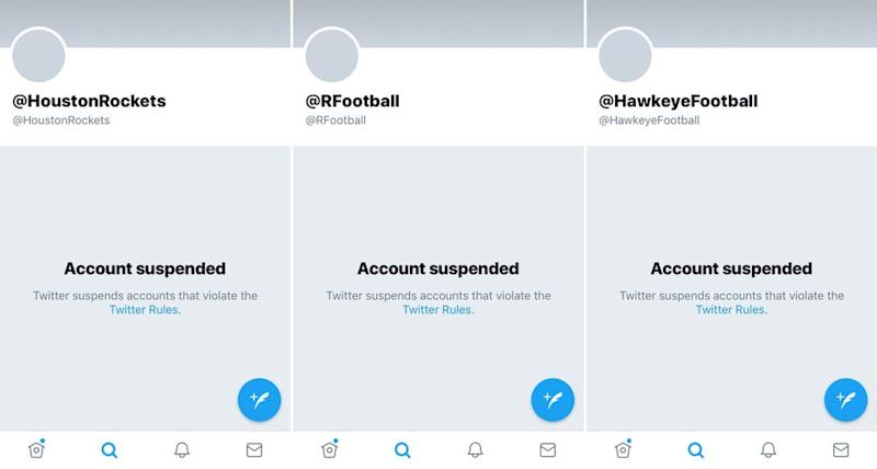 Multiple Sports Teams Suspended from Twitter