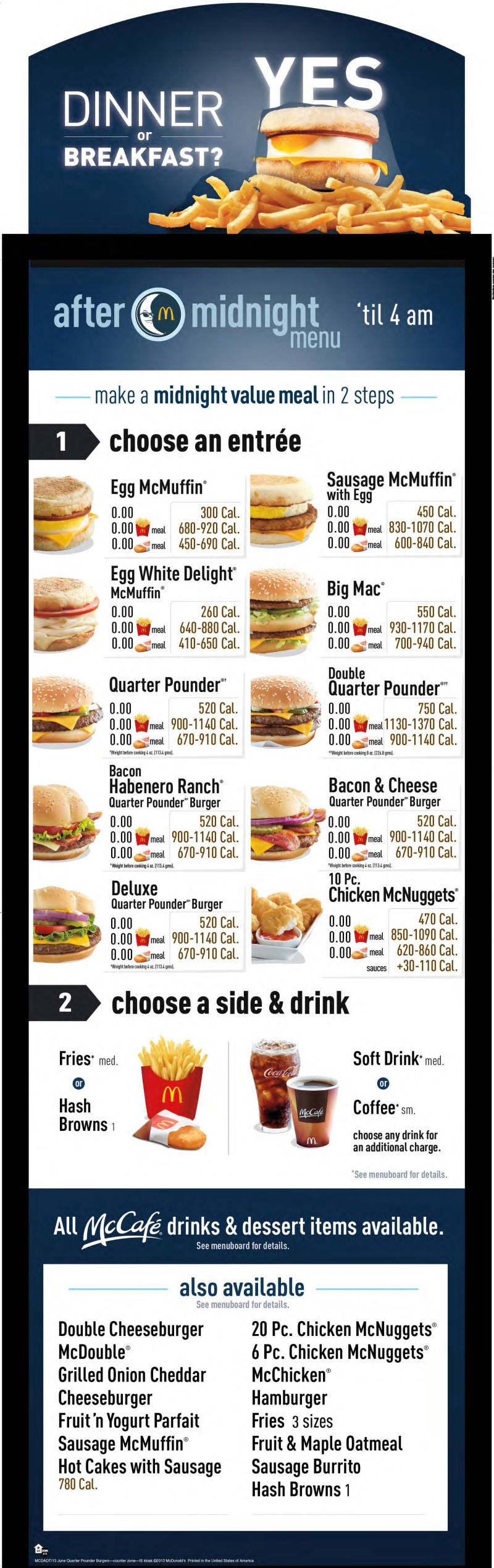 McDonald's courts night owls with breakfast items