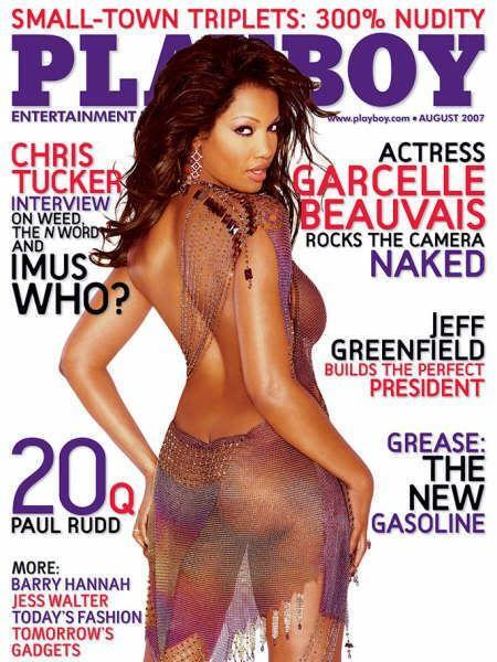 <p><strong>Issue: </strong>August 2007</p><p>Garcelle Beauvais donned a sheer, multi-colored dress that looked like sexy, sexy body paint for her 2007 cover. </p>
