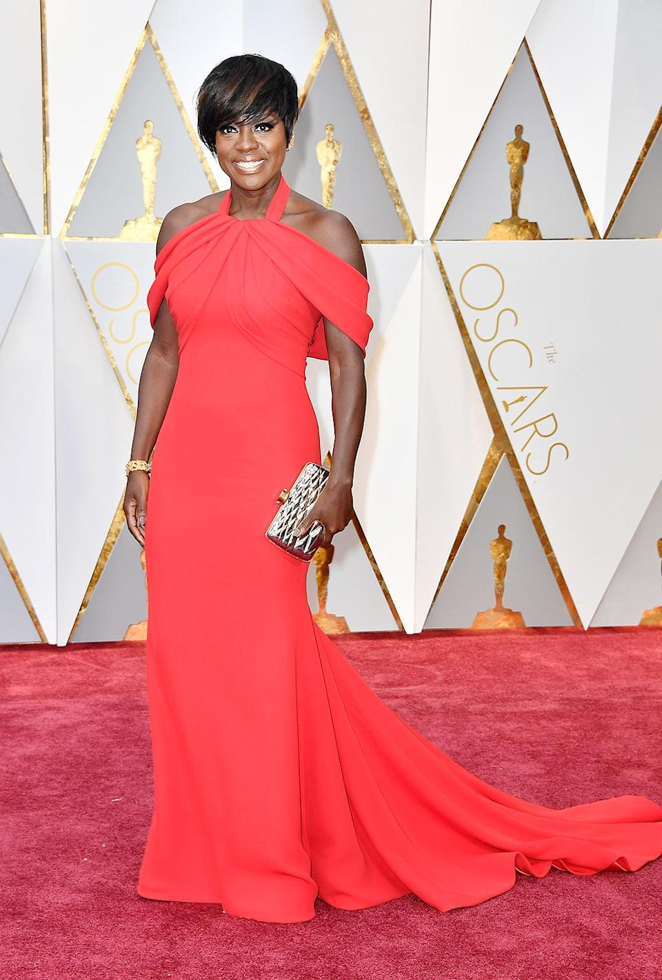 """<p>Viola Davis attends the 89th Annual Academy Awards at Hollywood & Highland Center on February 26, 2017 in Hollywood, California. (Photo by Frazer Harrison/Getty Images)<br><br><a rel=""""nofollow"""" href=""""https://www.yahoo.com/style/oscars-2017-vote-for-the-best-and-worst-dressed-225105125.html"""" data-ylk=""""slk:Go here to vote for best and worst dressed.;outcm:mb_qualified_link;_E:mb_qualified_link;ct:story;"""" class=""""link rapid-noclick-resp yahoo-link"""">Go here to vote for best and worst dressed.</a> </p>"""