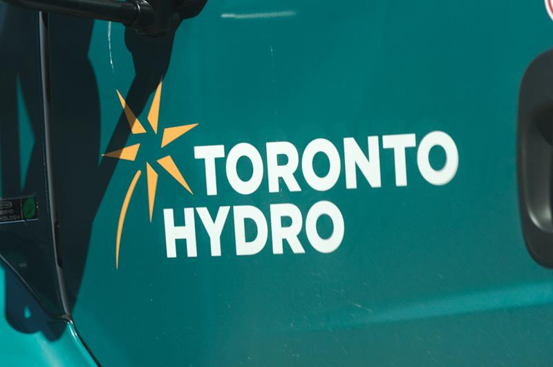 An undated file photo of a Toronto Hydro truck. THE CANADIAN PRESS IMAGES/Stephen C. Host