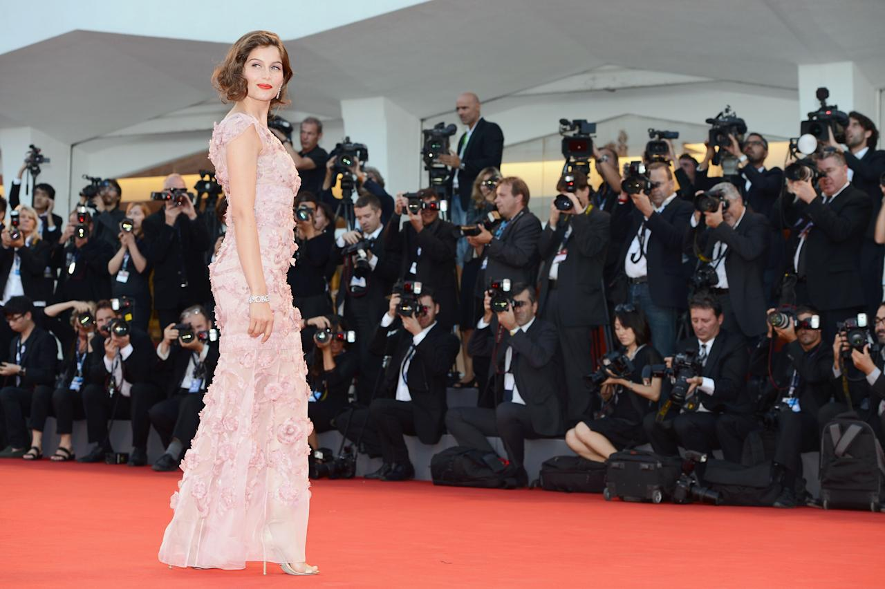 """VENICE, ITALY - SEPTEMBER 08:  Laetitia Casta attends the Award Ceremony And """"L'Homme Qui Rit"""" Premiere during The 69th Venice Film Festival at the Palazzo del Cinema on September 8, 2012 in Venice, Italy.  (Photo by Ian Gavan/Getty Images)"""