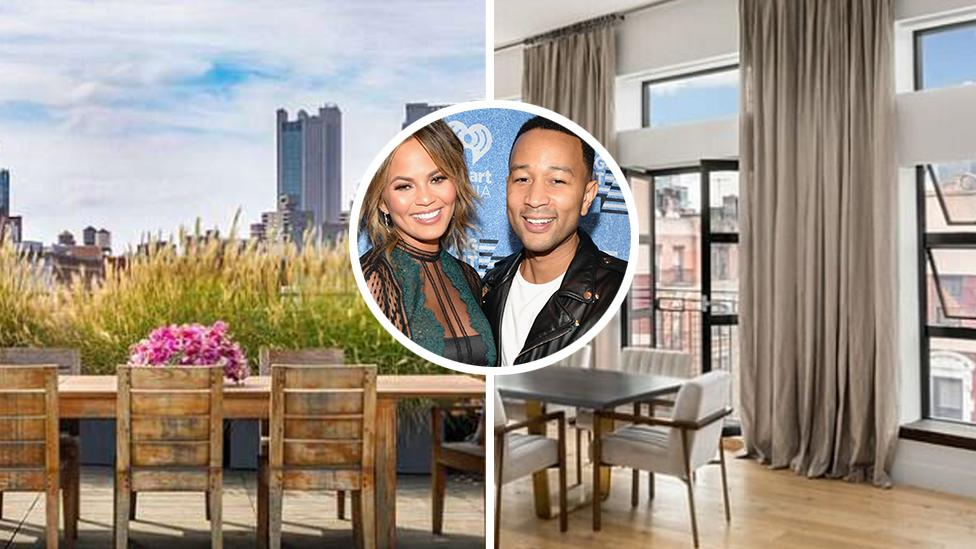 <p>Chrissy Teigen and John Legend have just purchased this stunning penthouse downtown in the trendy neighbourhood of Nolita in New York City. Source: Douglas Elliman </p>