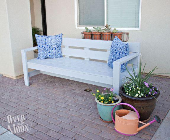 Marvelous Create A Diy Garden Bench Using Items You Already Have At Home Onthecornerstone Fun Painted Chair Ideas Images Onthecornerstoneorg