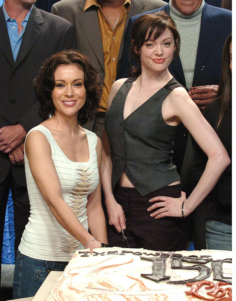 "Alyssa Milano and Rose McGowan co-starred in ""Charmed."" (Photo: SGranitz/WireImage)"