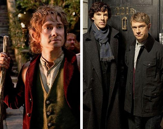 "The movie's hero and villain are actually sidekicks Bilbo Baggins (Martin Freeman) and Smaug the Dragon (Benedict Cumberbatch) aren't very friendly in the ""Hobbit"" films (when have hobbits and dragons ever gotten along, really?), but outside of Middle-earth, the pair get along quite swimmingly. On the BBC television series ""Sherlock,"" Freeman plays war vet doctor John Watson to Cumberbatch's titular detective Sherlock Holmes. Holmes and Watson have always had their ups and downs, but they certainly get on much better than the film's diminutive hero and monstrous, jewel-encrusted, fire-breathing villain."