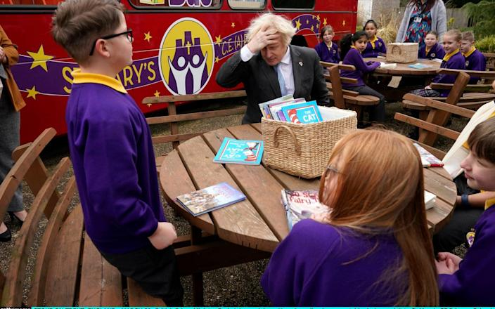 Boris Johnson made the comments during a visit to St Mary's Primary school in Stoke-on-Trent - Christopher Furlong/Getty Images Europe