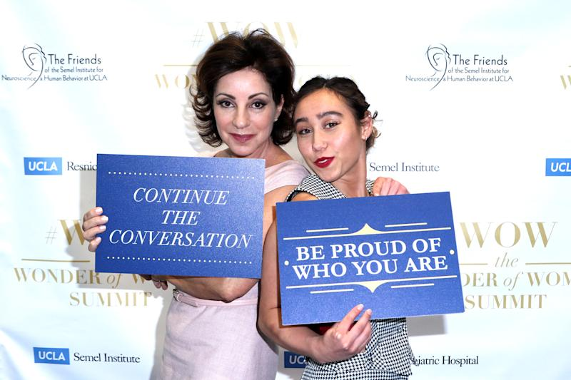 LOS ANGELES, CALIFORNIA - APRIL 11: Valorie Kondos Field (L) and Katelyn Ohashi attend the UCLA #WOW The Wonder Of Women Summit at UCLA Meyer and Renee Luskin Conference Center on April 11, 2019 in Los Angeles, California. (Photo by Tommaso Boddi/Getty Images)