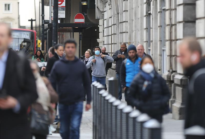 LONDON, UNITED KOINGDOM - MAY 13: Commuters walk along Victoria Station in the first day of easing the lockdown rules in London, England on May 13, 2020. (Photo by Ilyas Tayfun Salci/Anadolu Agency via Getty Images)