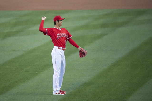 Shohei Ohtani awaits a Thursday appointment to examine whether the stem-cell-filled platelet-rich plasma shot he received to help mend a torn elbow ligament is helping. (AP)