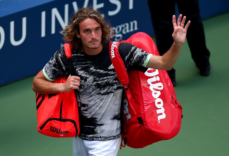 Greek star Stefanos Tsitsipas got into it with an umpire during his first round loss at the U.S. Open on Tuesday.