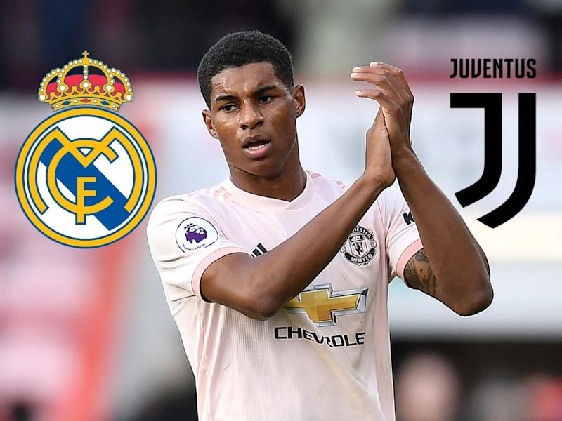the latest f2674 8030f Marcus Rashford linked with Real Madrid and Juventus
