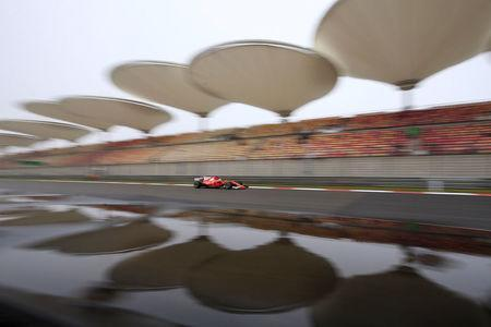 Formula One - F1 - Chinese Grand Prix - Shanghai, China - 7/4/17 - Ferrari Formula One driver Sebastian Vettel of Germany drives during the first practice session at the Shanghai International Circuit. REUTERS/Aly Song