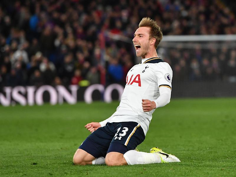 Eriksen was the hero on the night for Spurs: Getty